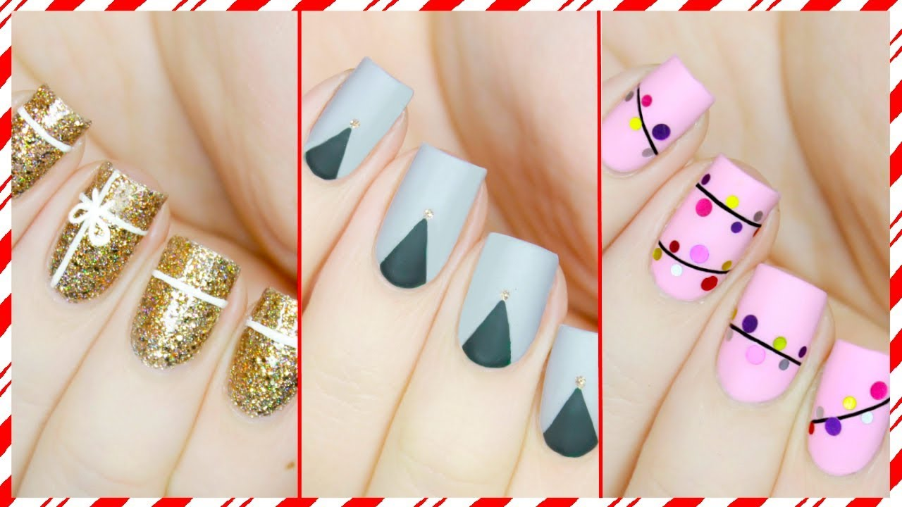 3 Easy Nail Art Designs For Christmas 2019 3 Easy Nail Art Designs For Christmas 2019 new images