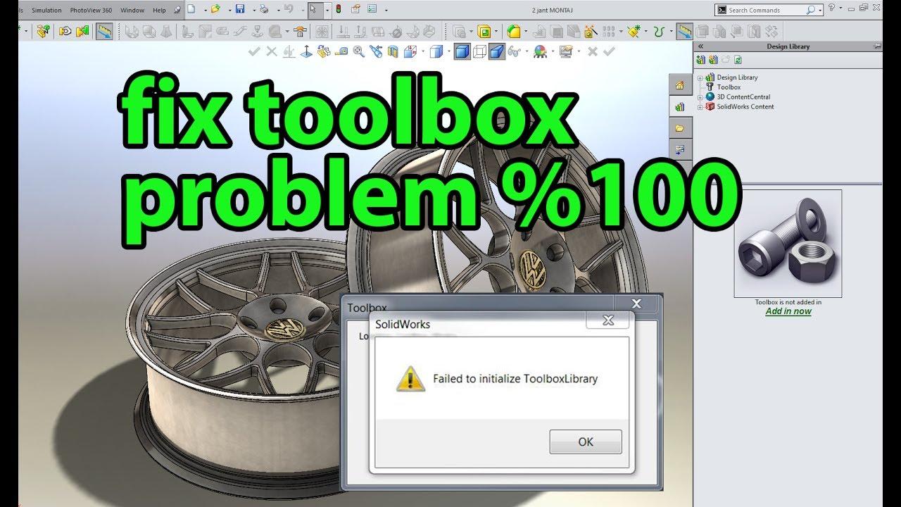 SolidWorks | How to Solve the Toolbox & Simulation Problem %100 (Kütüphane  Sorununun Çözümü)