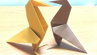 How to make Origami Crow Raven - Origami Tutorial Video
