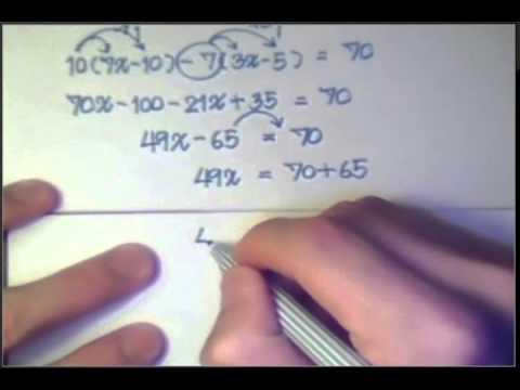 สมการเชิงเส้นตัวแปรเดียว PART 5