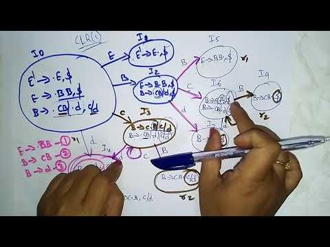 LALR (1) parsing  | LR(1) items | Compiler Design | Lec-25 | Bhanu Priya