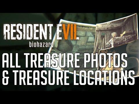 Resident Evil 7 ALL TREASURE PHOTOS & TREASURE LOCATIONS