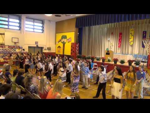 Flash Mob Dance on A P  Willits Elementary School Graduation 20130620 1)