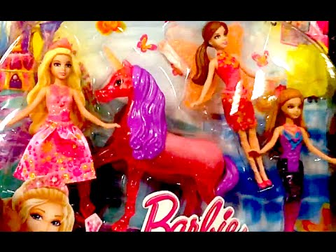 BARBIE And The SECRET DOOR Mini Dolls Amp UNICORN Toy Review