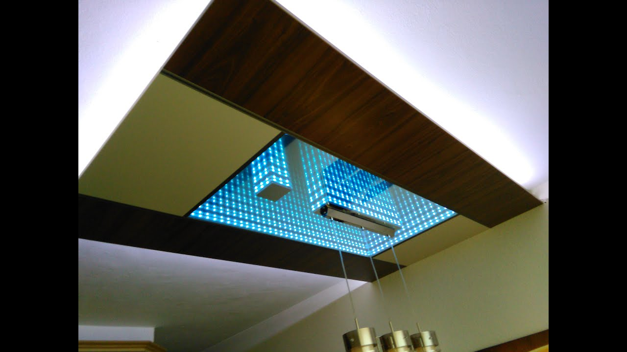 Led Infinity Mirror Ceiling Youtube
