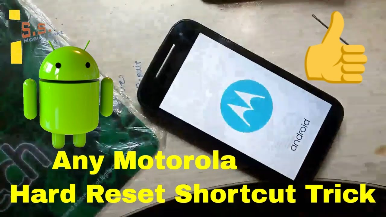 How To Hard Reset Motorola Easy Trick /Motorola Remove Pattern Lock / How  To Moto E Hard Reset