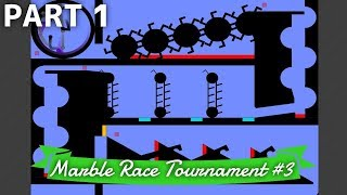Marble Race Tournament #3: 12 Teams  Part 1/3 (Groups) | Bouncy Marble