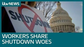 Federal employees tell of misery as government shutdown rolls on | ITV News