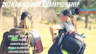 2020 Memorial Championship presented by Discraft | FinalRD,F9,FPO | Pierce, Allen, Blomroos, Salonen