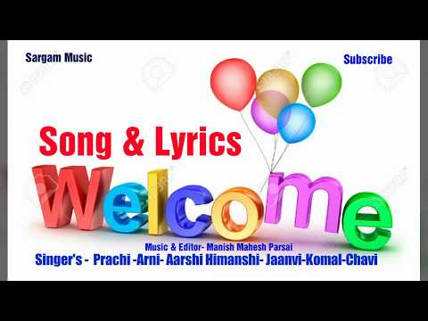 Welcome English Song with Lyrics by school children  HD video