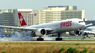 ACTION Planespotting at Los Angeles LAX Airport - including: Airbus A380, Boeing 777, 787 & more!