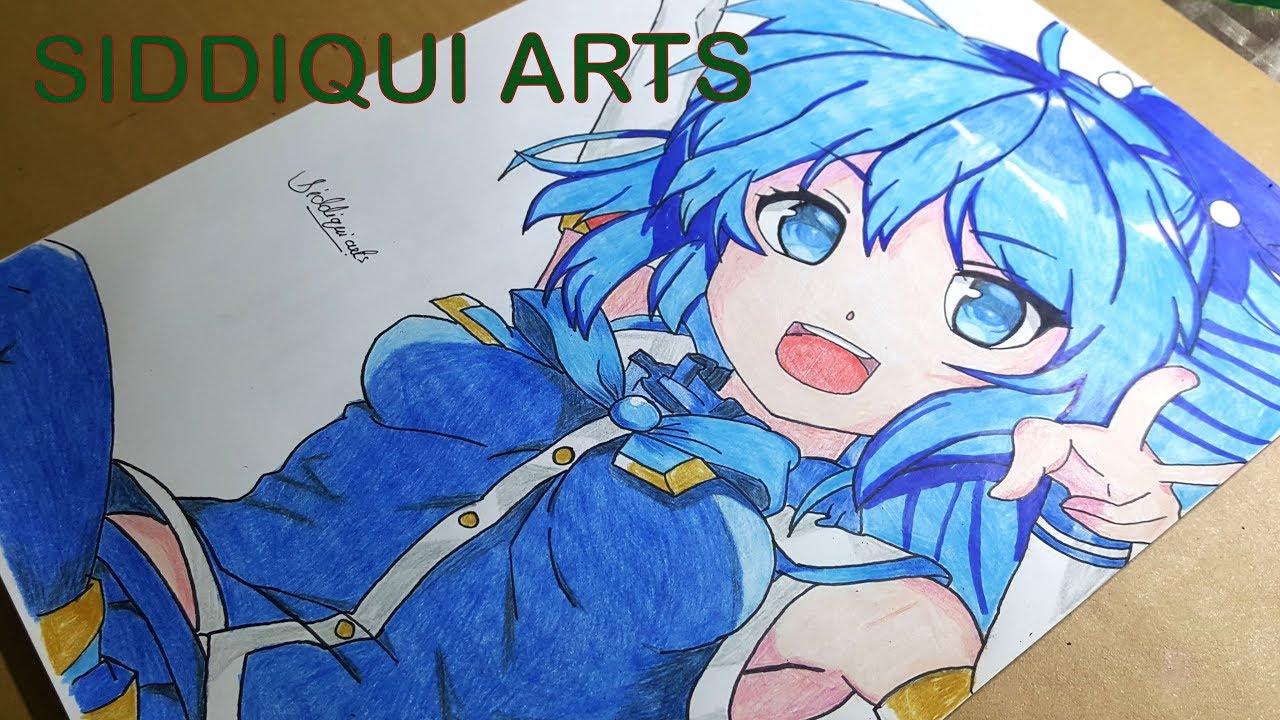 Drawing Anime Galaxy Girl - speed drawing - YouTube
