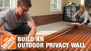 How To Build An Outdoor Privacy Wall