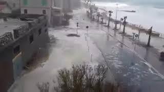 Mareggiata lungomare Cetraro - 21/03/2018