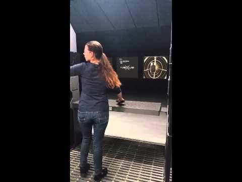 Vanessa at shooting range