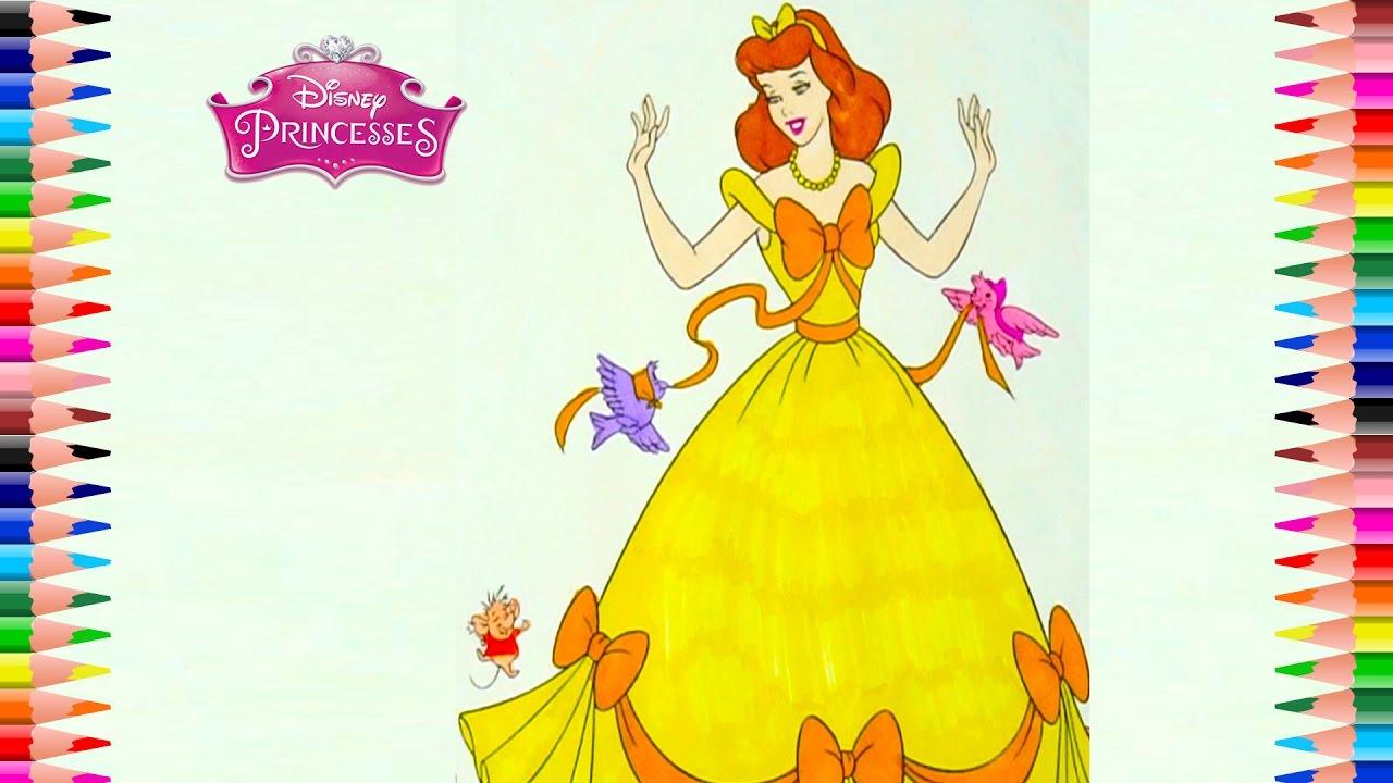 Coloring Pages Princess CINDERELLA Disney Book