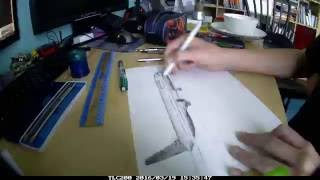 United 767-400 Speed drawing