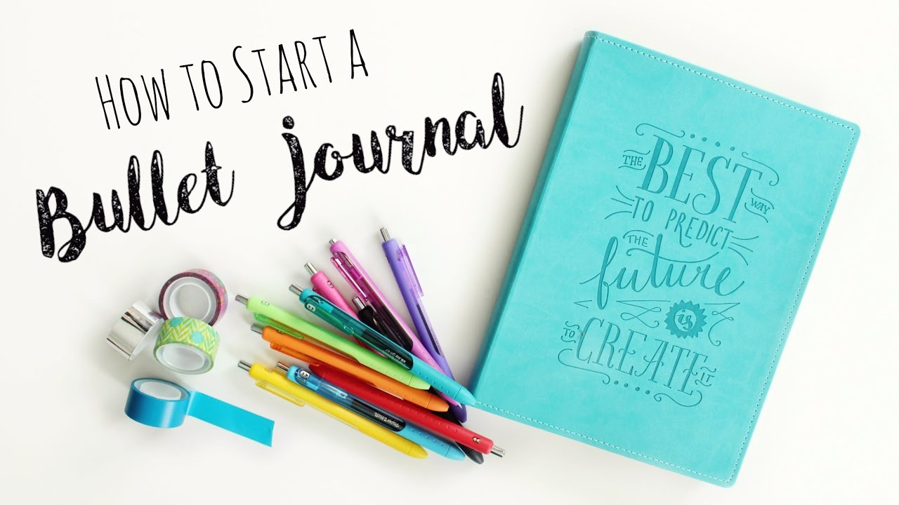 how to start a bullet journal diy planner veronica marie youtube. Black Bedroom Furniture Sets. Home Design Ideas