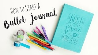 how to start a bullet journal diy planner veronica marie