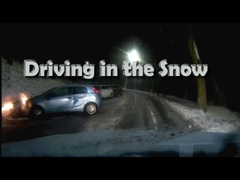 """Snow Driving on Sheffield UK Roads - """"Beast from the East"""" Car Accidents"""