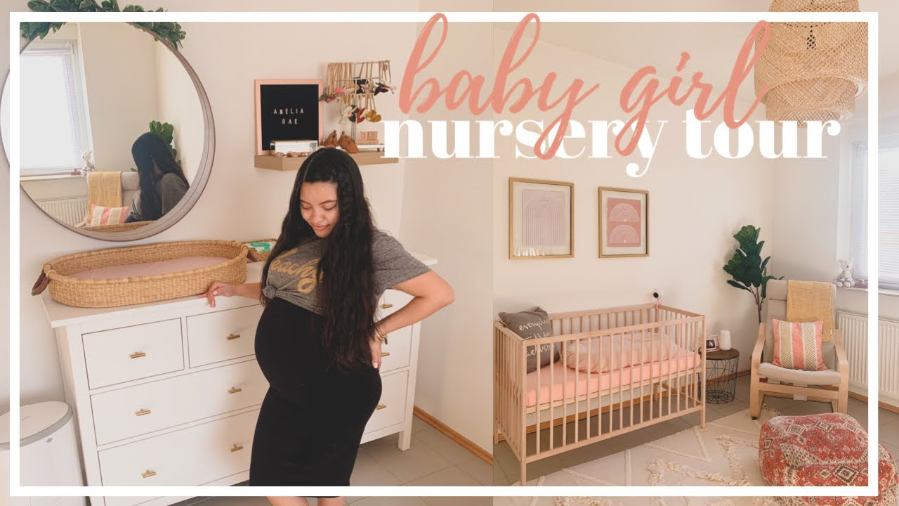 BABY GIRL NURSERY TOUR 2020 | BOHO & MINIMAL NURSERY | NURSERY ORGANIZATION - YouTube