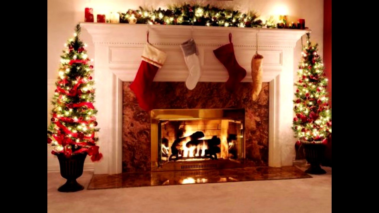 how decorate a fireplace for christmas ideas