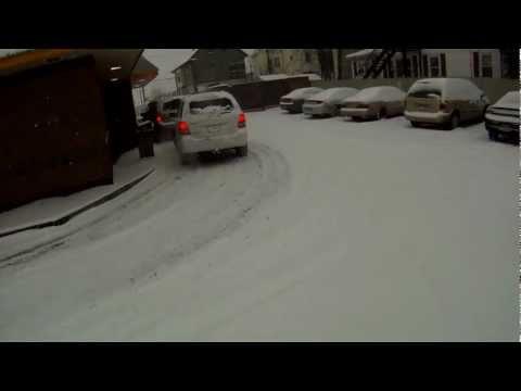 Snow Cycling.  Cranston, RI - 01-21-12
