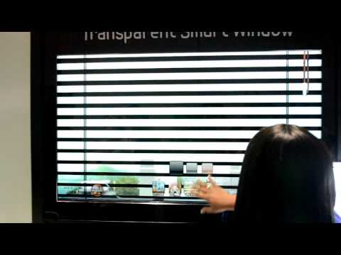 Samsung's Transparent Smart Window with virtual blinds