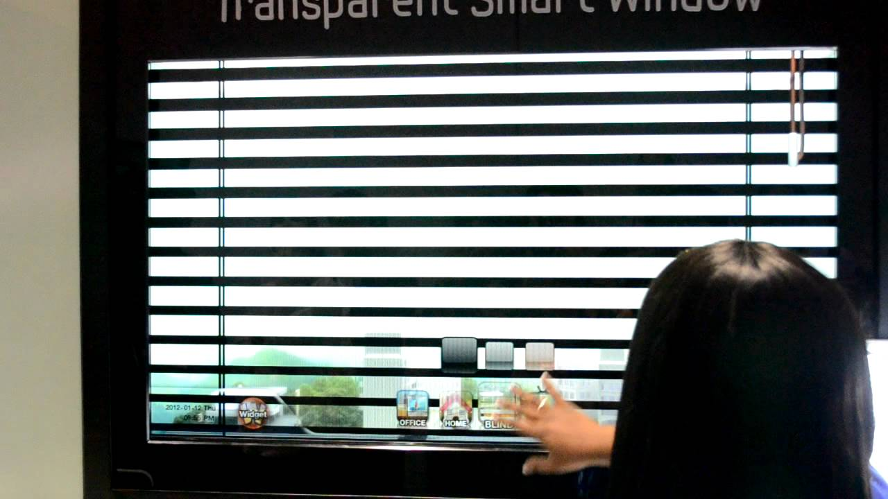 Samsung's Transparent Smart Window with virtual blinds ...