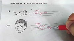 Grade 1 (DEPED) Mother Tongue HILIGAYNON 1st Periodical Test