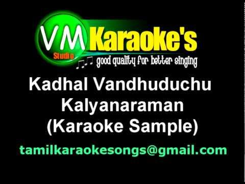 Kadhal vandhuduchu karaoke sample youtube