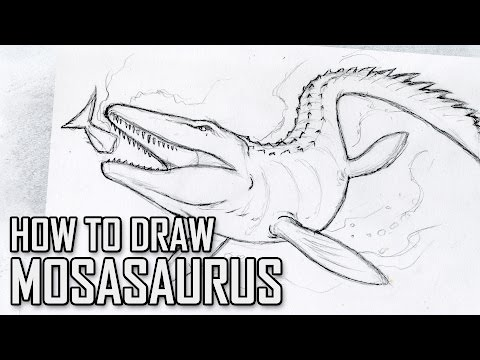 How To Draw Mosasaurus from Jurassic World - Tutorial Tuesday