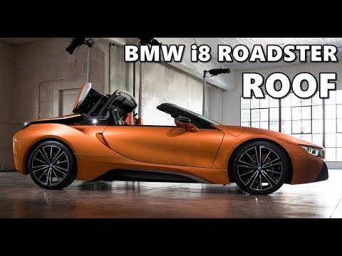 2019 Bmw I8 Roadster Roof Operation Up Close Youtube