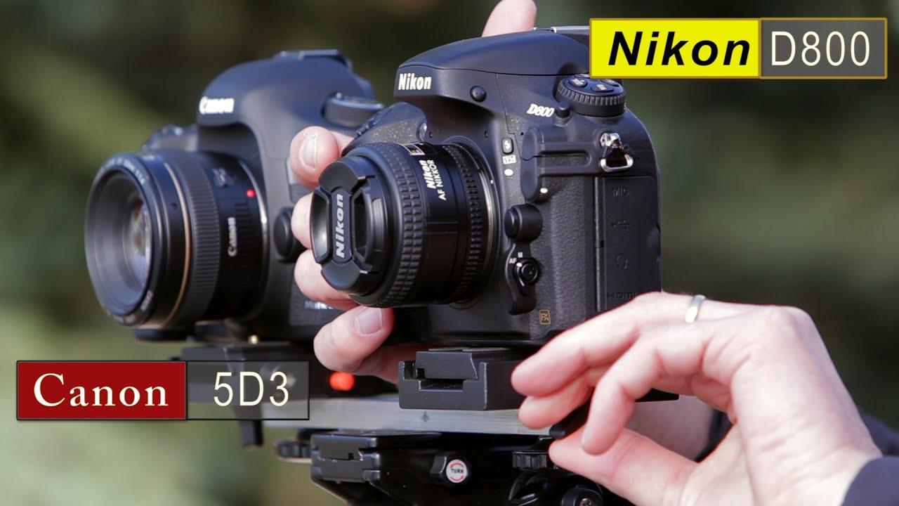Canon 5D Mark III vs Nikon D800 Comparison - YouTube