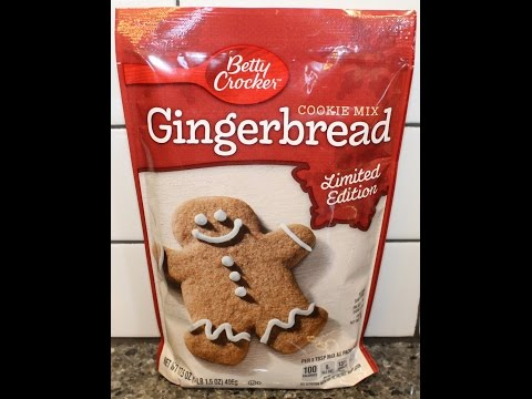 Making Betty Crocker Gingerbread Cookies