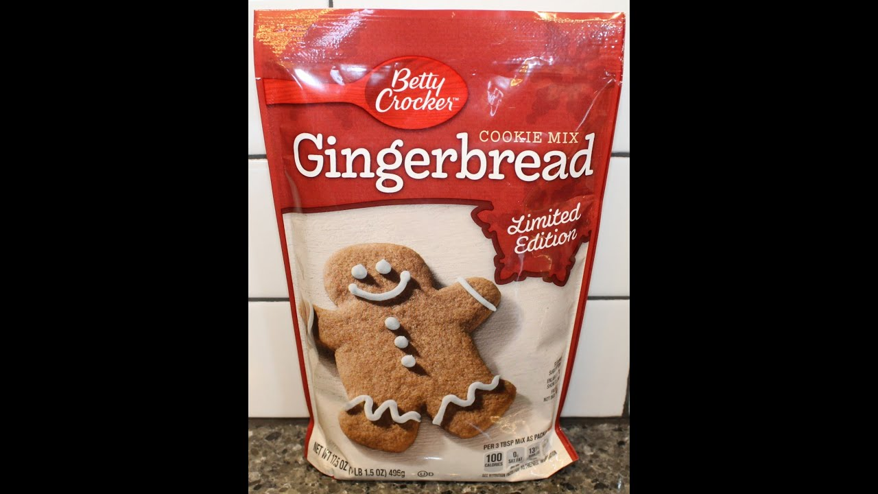 Making Betty Crocker Gingerbread Cookies - YouTube