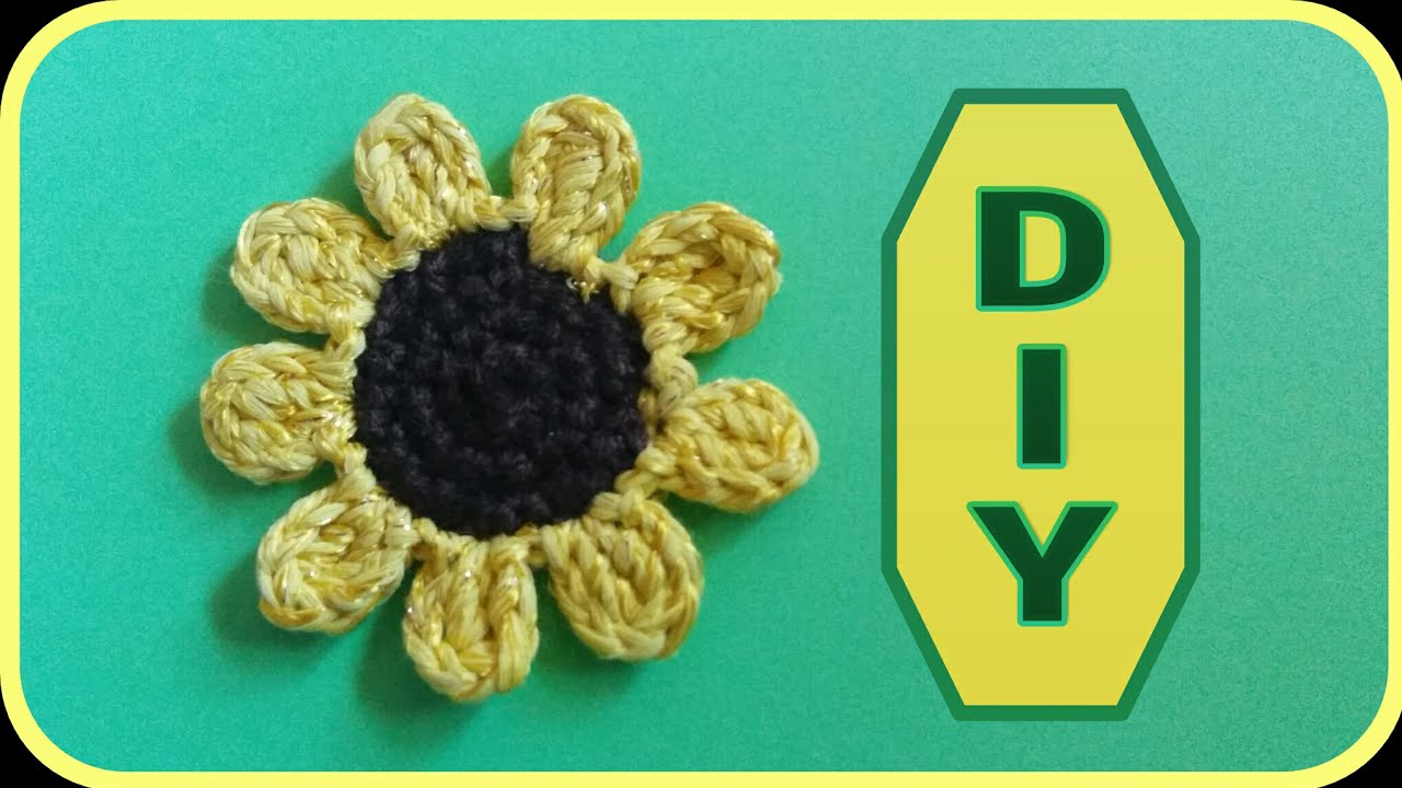 Sonnenblume Blüte Häkeln Diy Julebuergerfee Youtube