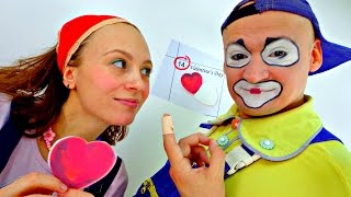 The 14th of February - Valentine's Day. A funny video for kids. Clown Andrew 2016