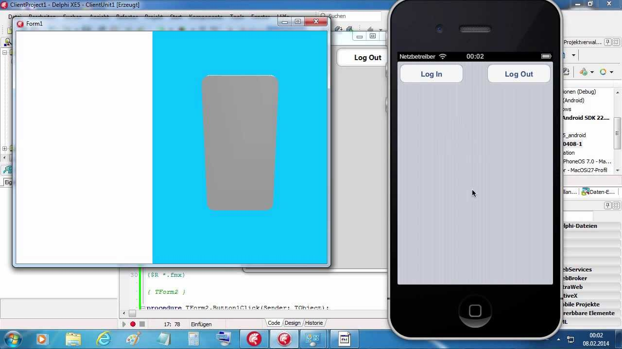 Tutorial: UDP Login FireMonkey XE5 (Delphi XE5) on Win, IOS and Android