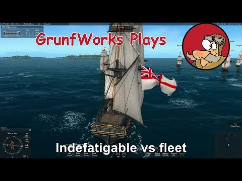 Naval Action - Fleet Battles - Indefatigable vs Fleet