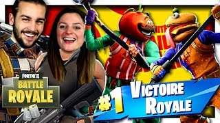 NOUVEAU MODE : BATAILLE GOURMANDE ! TOMATE VS BURGER | FORTNITE BATAILLE GOURMANDE DUO FR