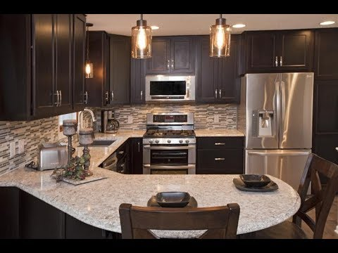 Espresso Kitchen Cabinets With Granite Youtube