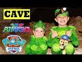 PJ Masks Gekko RESCUE Paw Patrol Chase in a REAL CAVE!