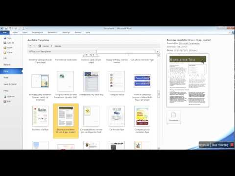 Cara membuat buletin dengan Microsoft word 2010
