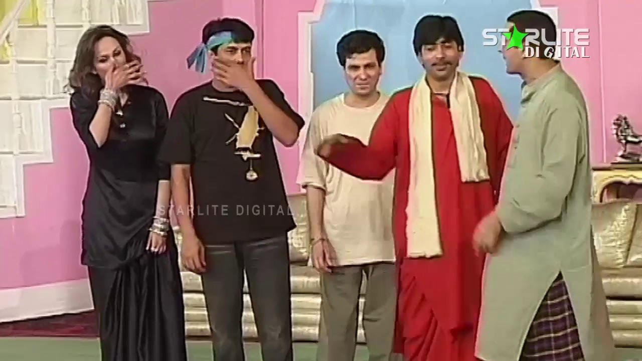 Zafri Khan, Sajan Abbas and Naseem Vicky New Pakistani Stage Drama Full Comedy Clip