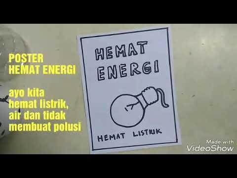 Menggambar poster HEMAT ENERGI, request dari Pricilia ...