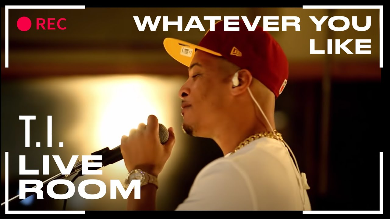 """Download T.I. - """"Whatever You Like"""" captured from The Live Room"""