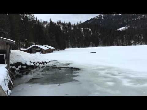 Spitzingsee ( frozen lake ) - Bayern, Germany