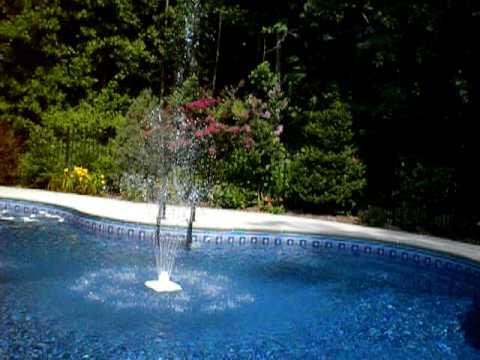 Pool Fountain Video Youtube