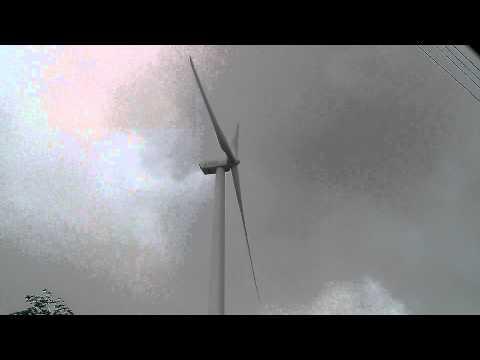 Wind turbine in storm 2